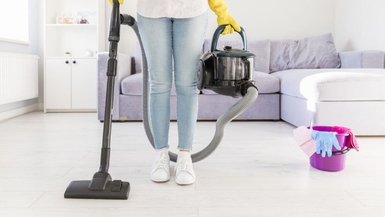 10.Frequent Vacuuming and mopping the floor